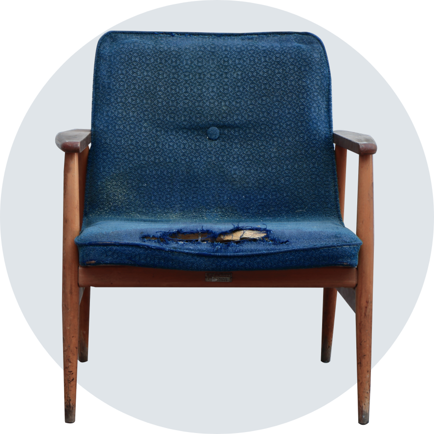 chair on circle